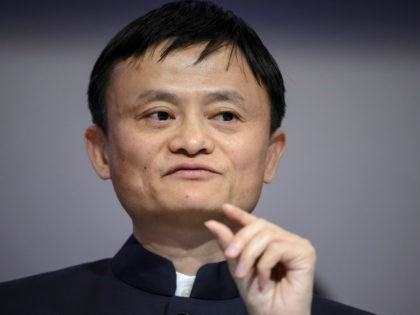 Alibaba Group Founder and Executive Chairman Jack Ma gestures as he speaks during a session of the World Economic Forum (WEF) annual meeting on January 23, 2015 in Davos. AFP PHOTO / FABRICE COFFRINI (Photo credit should read FABRICE COFFRINI/AFP/Getty Images)