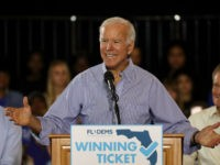 TAMPA, FL - OCTOBER 22: Former Vice President Joe Biden speaks during a campaign rally held at the University of South Florida Campus Recreation Building on October 22, 2018 in Tampa, Florida. The rally was held to support U.S. Sen. Bill Nelson (D-FL) and Democratic gubernatorial nominee Andrew Gillum as …