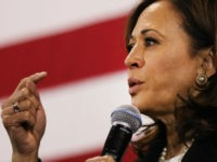 Democratic presidential candidate U.S. Sen. Kamala Harris (D-CA) speaks at a campaign stop on May 15, 2019 in Nashua, New Hampshire. The Democrat and California senator is looking to differentiate herself from current front runner former Vice President Joe Biden who recently took a campaign swing through New Hampshire. (Photo …