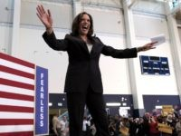 Democratic presidential candidate Sen. Kamala Harris, D-Calif. Is greeted by supporters as she takes to stage during her first campaign organizing event at Los Angeles Southwest College in Los Angeles, on Sunday, May 19, 2019. ((AP Photo/Richard Vogel)