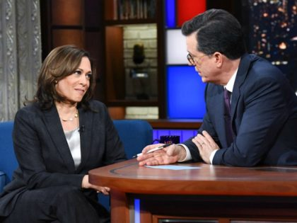Kamala Harris to Stephen Colbert: Trump Holding America 'Hostage' over Infrastructure