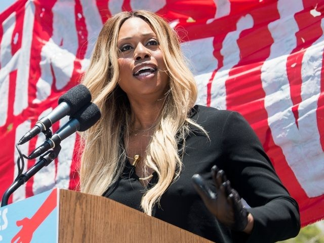 LOS ANGELES, CA - JUNE 30: Laverne Cox attends 'Families Belong Together - Freedom for Immigrants March Los Angeles' at Los Angeles City Hall on June 30, 2018 in Los Angeles, California. (Photo by Emma McIntyre/Getty Images for Families Belong Together LA)