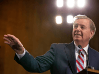 Senate Judiciary Chairman Lindsey Graham, (R-SC)., speaks at a news conference proposing legislation to address the crisis at the southern border at the U.S. Capitol on May 15, 2019 in Washington, DC. Senate Republicans met with Vice President Mike Pence and White House Advisor Jared Kushner yesterday to discuss President …