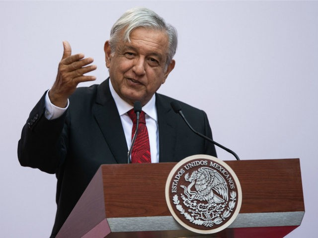 Mexican President Andres Manuel Lopez Obrador delivers his report on the first 100 days of government, at the National Palace in Mexico City on March 11, 2019. - It has been a frenetic first 100 days for Mexican President Andres Manuel Lopez Obrador, though his sometimes chaotic attempts to deliver …