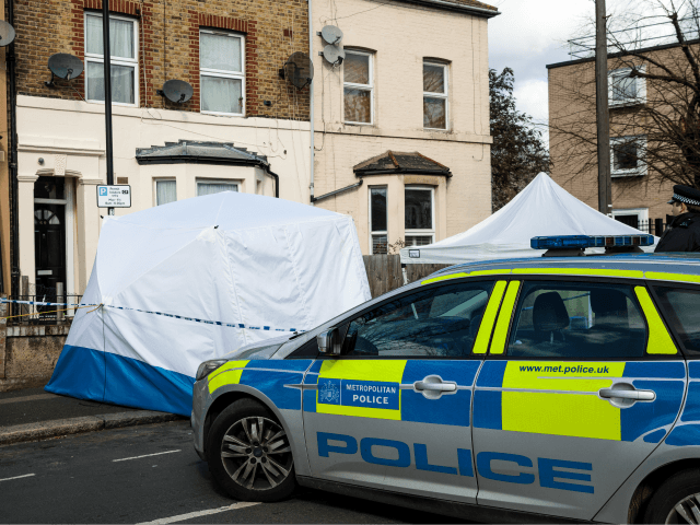 LONDON, ENGLAND - MARCH 07: Police on the scene of a fatal stabbing in Leyton on March 7, 2019 in London, England. A man in his 20s has become the 21st person killed in London after he died from his injuries yesterday afternoon. (Photo by Jack Taylor/Getty Images)