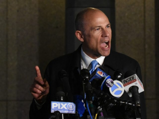 NEW YORK, NY - MARCH 25: Michael Avenatti, the former lawyer for adult film actress Stormy Daniels' and a fierce critic of President Donald Trump, speaks to the media after being arrested for allegedly trying to extort Nike for $15-$25 million on March 25, 2019 in New York City. The …