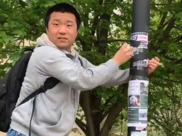 Mizzou student vandalizes TPUSA sign