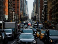 Traffic moves on 2nd Avenue in the morning hours on March 15, 2019 in New York City. (Photo by Johannes EISELE / AFP) (Photo credit should read JOHANNES EISELE/AFP/Getty Images)