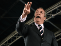 Brexit Party leader Nigel Farage speaks during a rally with the Brexit Party's north west candidates in Fylde, north west England on May 4, 2019, in the build up to the European elections. (Photo by Oli SCARFF / AFP) (Photo credit should read OLI SCARFF/AFP/Getty Images)