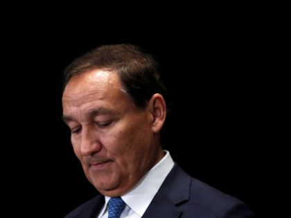 CHICAGO, IL - MARCH 21: United Airlines CEO Oscar Munoz pauses after delivering remarks on the long-term strategy for the airline to the Executives' Club of Chicago on March 21, 2018 in Chicago, Illinois. Over the last year, the airline has been publicly criticized about its response and handling to …
