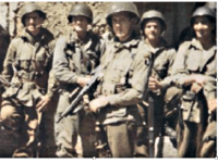 Paratroopers in Normandy including pathfinder Captain Frank Lillyman.