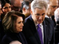 Speaker Nancy Pelosi (left), House Minority Leader Kevin McCarthy (right), Senate Majority Leader Mitch McConnell and Senate Minority Leader Chuck Schumer will attend the budget meeting. | Aaron Bernstein-Pool/Getty Images