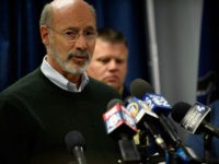 PITTSBURGH, PA - OCTOBER 27: Pennsylvania Governor Tom Wolf speaks to the media following a mass shooting at the Tree of Life Synagogue in the Squirrel Hill neighborhood on October 27, 2018 in Pittsburgh, Pennsylvania. According to reports, at least 12 people were shot, 4 dead and three police officers …