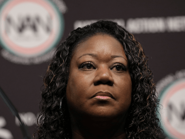 Sybrina Fulton, mother of the late Trayvon Martin, attends the National Action Network's annual convention, April 3, 2019 in New York City. A dozen 2020 Democratic presidential candidates will speak at the organization's convention this week. Founded by Rev. Al Sharpton in 1991, the National Action Network is one of …