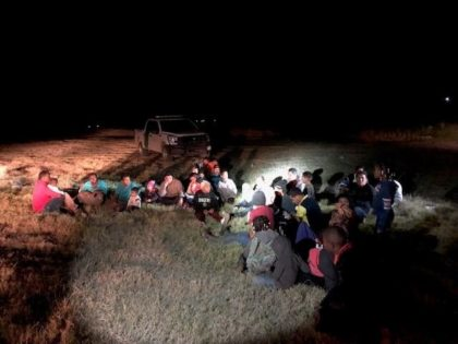 Presidio Border Patrol Station agents apprehend a group of Central American migrant families in the Big Bend Sector.