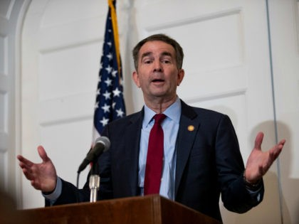 Virginia Governor Ralph Northam speaks with reporters at a press conference at the Governor's mansion on February 2, 2019 in Richmond, Virginia. Northam denies allegations that he is pictured in a yearbook photo wearing racist attire. (Photo by Alex Edelman/Getty Images)