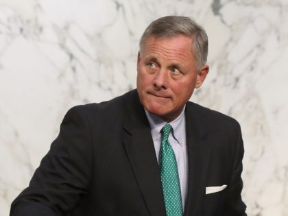 WASHINGTON, DC - AUGUST 01: Chairman Richard Burr (R), attends a Senate Intelligence Committee hearing, on Capitol Hill, on August 1, 2018 in Washington, DC. The committee heard testimony about foreign influence on social media platforms. (Photo by Mark Wilson/Getty Images)