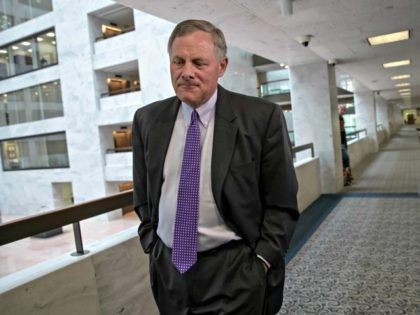 Senate Intelligence Committee Chairman Richard Burr, R-N.C., goes behind closed doors as members of the Senate Intelligence Committee arrive to vote on Gina Haspel, President Donald Trump's pick to lead the Central Intelligence Agency, and to meet with former national security chiefs on Russian meddling in the 2016 campaign, on …