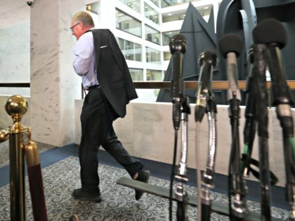 WASHINGTON, DC - FEBRUARY 26: Chairman of the Senate Intelligence Committee Richard Burr (R-NC) walks to a closed-door hearing where Michael Cohen, former attorney and fixer for President Donald Trump, will be testifying at the Hart Senate Office Building before testifying to the Senate Intelligence Committee on Capitol Hill February …