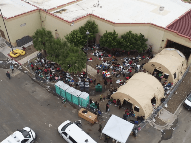 Tents Erected Outside Border Patrol Stations to Hold Overflow Migrants