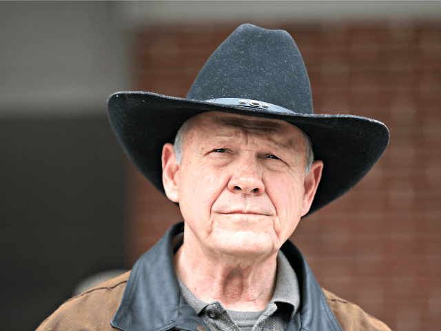 In this Dec. 12, 2017, file photo, Roy Moore speaks to the media after he rode in on a horse to vote in Gallant, Ala. Moore says he's considering a fresh run for Senate in 2020. That's prompting national Republican leaders to signal that they'd try again to prevent their …