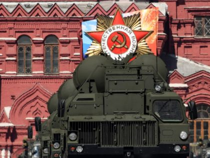 Russia's S-400 Triumph air defence missile systems ride through Red Square during the Victory Day military parade in Moscow on May 9, 2018. - Russia marks the 73rd anniversary of the Soviet Union's victory over Nazi Germany in World War Two. (Photo by Kirill KUDRYAVTSEV / AFP) (Photo credit should …