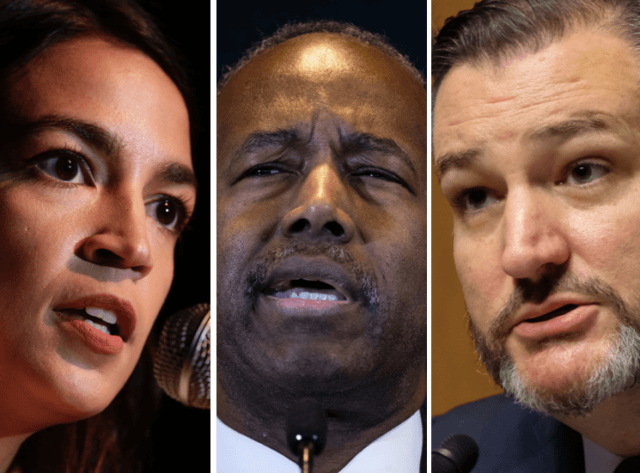 AOC and Ben Carson and Ted Cruz (Alex Wong / Drew Angerer / Alex Wroblewski / Getty Images)
