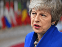 BRUSSELS, BELGIUM - APRIL 10: Britain's Prime minister Theresa May arrives ahead of a European Council meeting on Brexit at The Europa Building, The European Parliament on April 10, 2019 in Brussels, Belgium. Theresa May formally presents her case to the European Union for a short delay to Brexit until …