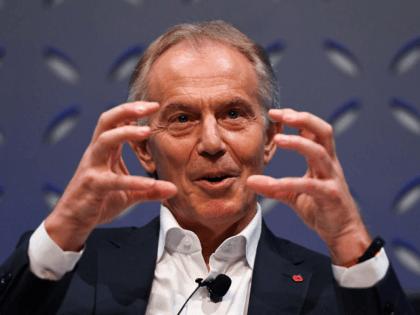 Tony Blair Gesticulates