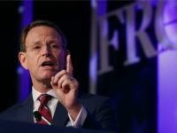Family Research Council President Tony Perkins delivers remarks at the opening of the council's Value Voters Summit at the Omni Shoreham Hotel September 21, 2018 in Washington, DC. Hosted by the conservative Christian council, the summit is the 12th annual gathering of activists and elected officials who oppose gay marriage …