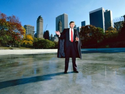 American businessman Donald Trump standing on the ice of Wollman Rink in Central Park, Manhattan, New York City, October 1986. (Photo by Ted Thai/The LIFE Picture Collection/Getty Images)