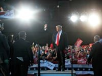 President Donald Trump arrives to speak to a campaign rally, Monday, May 20, 2019, in Montoursville, Pa. (AP Photo/Evan Vucci)