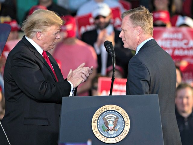 Rep. Fred Keller, R-Snyder, right, meets with President Donald Trump during a campaign rally in Montoursville, Pa., Monday, May 20, 2019. (AP Photo/Matt Rourke)