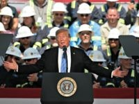 President Donald Trump speaks on energy infrastructure at the Cameron LNG Export Terminal in Hackberry, La., Tuesday, May 14, 2019. (AP Photo/Gerald Herbert)