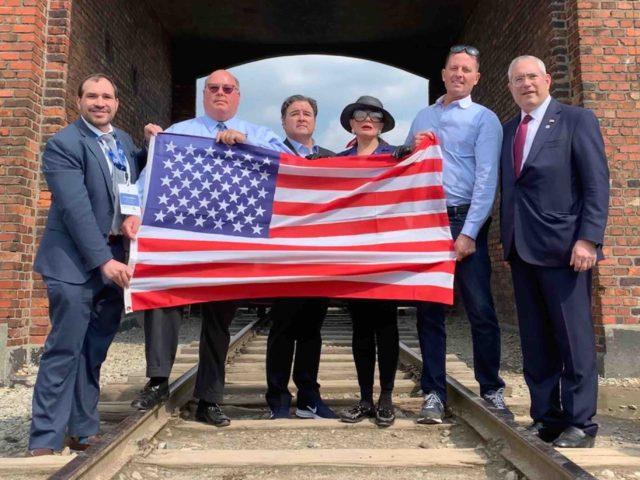 U.S. delegation at Birkenau (Joel Pollak / Breitbart News)