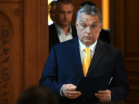 Hungarian Prime Minister Viktor Orban arrives to give his first international press conference on April 10, 2018 at the parliament building in Budapest, two days after his Fidesz party won the general elections. After a campaign centred on resistance to immigration and trumpeting a strong economy, nearly complete results showed …