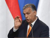 Hungarian Prime Minister Viktor Orban addresses a joint press conference in the Carmelite monastery of the prime minister's office in Budapest on May 2, 2019. - Salvini is on a one-day official visit to Hungary. (Photo by ATTILA KISBENEDEK / AFP) (Photo credit should read ATTILA KISBENEDEK/AFP/Getty Images)