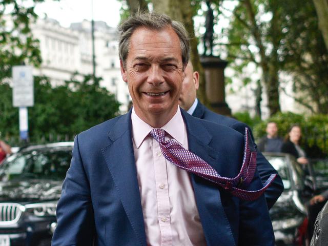Windswept Farage
