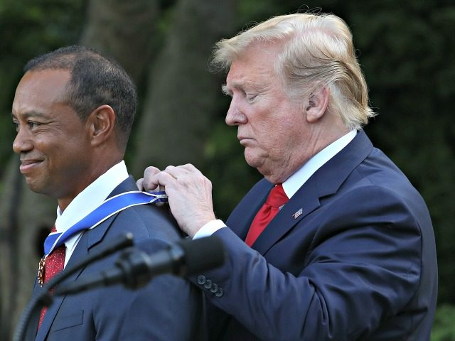 Trump on Tiger Woods: 'He's Going to Be Back — I Have No Doubt About It'