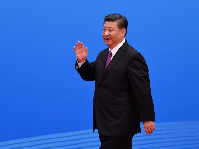 BEIJING, CHINA - APRIL 27: Chinese President Xi Jinping arrives for a press conference after the Belt and Road Forum at the China National Convention Center at the Yanqi Lake venue on April 27, 2019 in Beijing, China. (Photo by Wang Zhao - Pool/Getty Images)