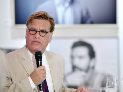 ZURICH, SWITZERLAND - OCTOBER 04: Aaron Sorkin speaks at the 'Molly's Game' press conference during the 13th Zurich Film Festival on October 4, 2017 in Zurich, Switzerland. The Zurich Film Festival 2017 will take place from September 28 until October 8. (Photo by Alexander Koerner/Getty Images)
