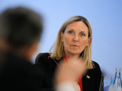 US Under Secretary of State Andrea Thompson attends a panel discussion after the Treaty on the Non-Proliferation of Nuclear Weapons (NPT) conference in Beijing on January 31, 2019. (Photo by THOMAS PETER / POOL / AFP) (Photo credit should read THOMAS PETER/AFP/Getty Images)