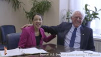 AOC and Bernie's Awkward Attempt at a Hug