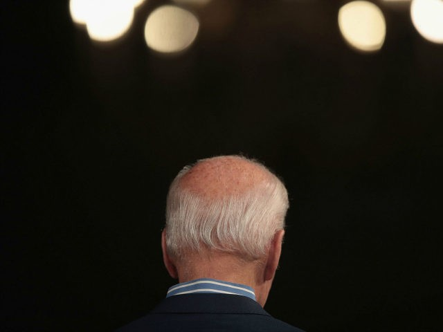 Democratic presidential candidate and former vice president Joe Biden speaks to guests during a campaign event at The River Center on May 1, 2019 in Des Moines, Iowa. The event was Biden's final rally in the state, wrapping up his first visit since announcing that he was officially seeking the …
