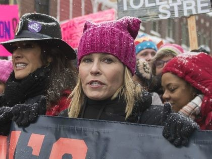 "Actress Chelsea Handler participates in the ""Women's March On Main"" during the 2017 Sundance Film Festival on Saturday, Jan. 21, 2017, in Park City, Utah. (Photo by Arthur Mola/Invision/AP)"