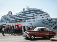 The first US-to-Cuba cruise ship to arrive in the island nation in decades remains docked at the port of Havana, on May 2, 2016. The first US cruise ship bound for Cuba in half a century, the Adonia -- a vessel from the Carnival cruise's Fathom line -- set sail …