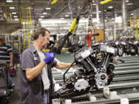 MENOMONEE FALLS, WI - JUNE 01: Harley-Davidson motorcycle engines are assembled at the company's Powertrain Operations plant on June 1, 2018 in Menomonee Falls, Wisconsin. The European Union said it plans to increase duties on a range of U.S. imports, including Harley-Davidson motorcycles, in retaliation for the Trump administration's new …