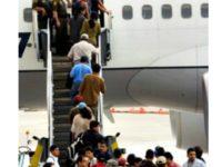 illegal aliens board plane