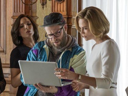 Charlize Theron, Seth Rogen, June Diane Raphael, and Ravi Patel in Long Shot (AG Studios, Denver and Delilah Productions, Good Universe, 2019)