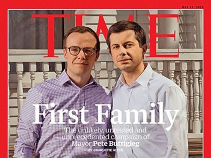 Mayor Pete Buttigieg celebrated his TIME magazine cover on Thursday, telling supporters in Minnesota that it was a sign of hope for America's future.